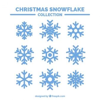 Set van decoratieve sneeuwvlokken