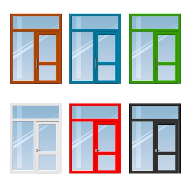 Set van deuren en ramen