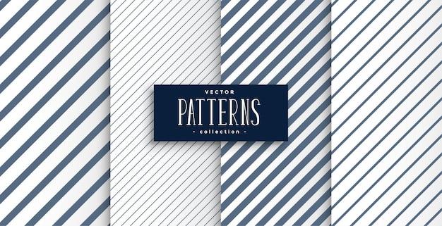 Set van diagonale lijnen patronen ontwerp