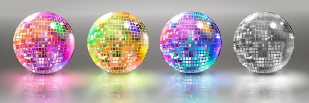 Set van disco ballen
