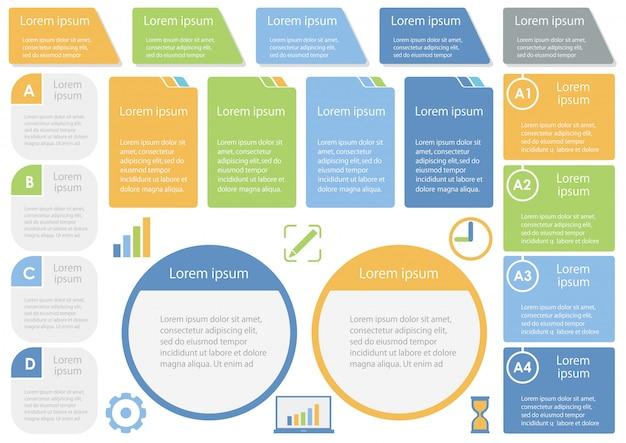 Set van diverse infographic sjablonen