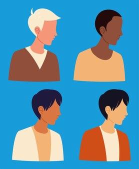 Set van diverse mannen