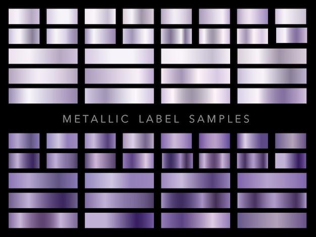 Set van diverse metalen labelstalen