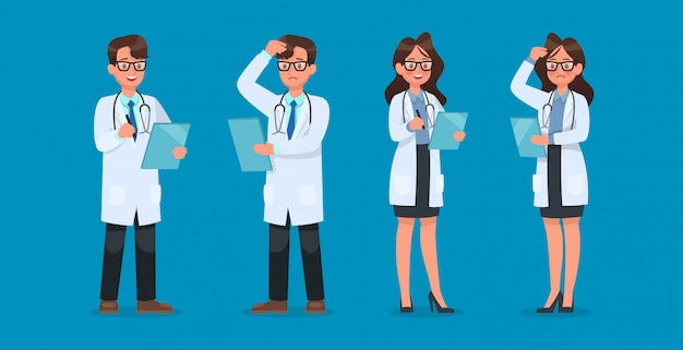 Set van dokter karakter