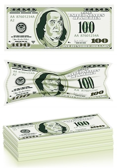 Set van dollarbiljetten