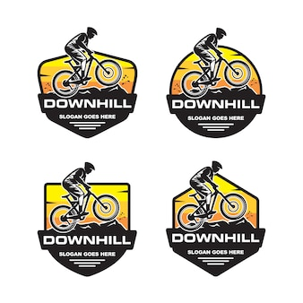 Set van downhill logo sjabloon