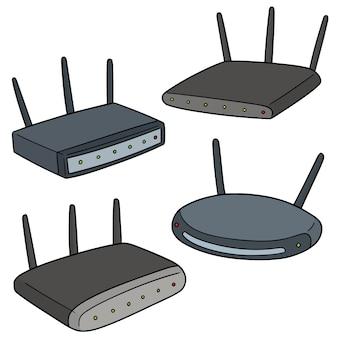 Set van draadloze router