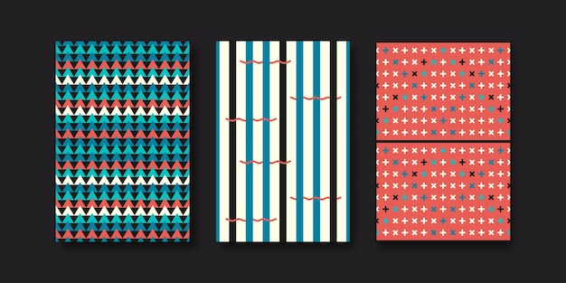 Set van drie abstracte geometrische vormen van memphis.