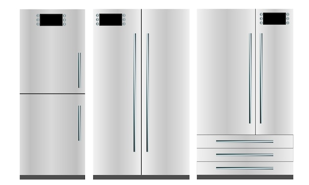 Set van drie koelkasten