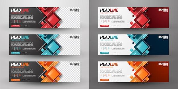 Set van drie zakelijke banner