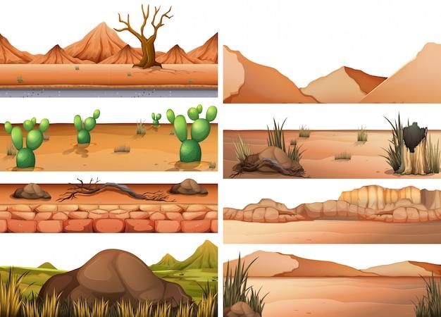 Set van droog land