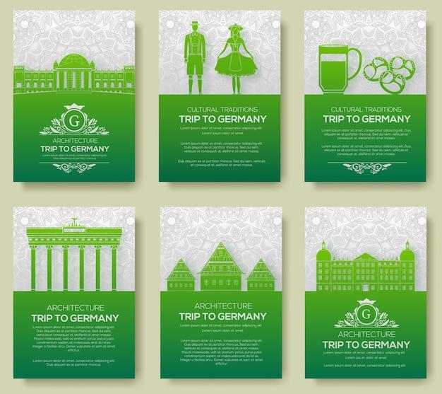 Set van duitsland land ornament illustratie concept