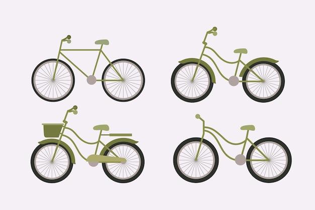 Set van ecologie fietsen
