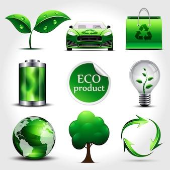 Set van ecologie iconen
