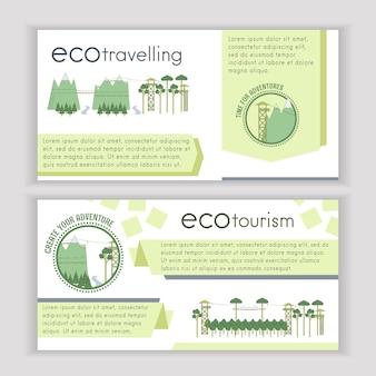 Set van ecotoerisme sjabloon banners.