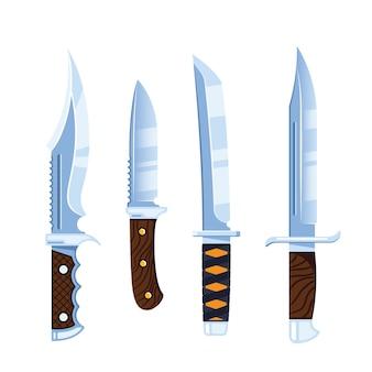 Set van een mes pictogrammen geïsoleerd op een witte achtergrond