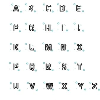 Set van een pictogram letter van het alfabet voltooid