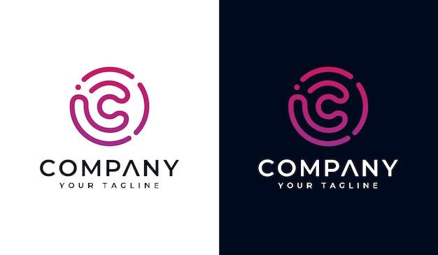 Set van eerste letter c logo creatief ontwerp voor alle toepassingen