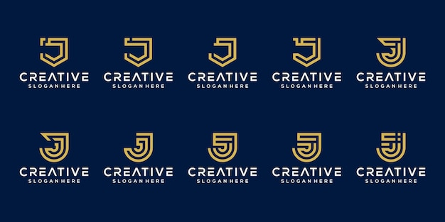 Set van eerste letter logo sjabloon
