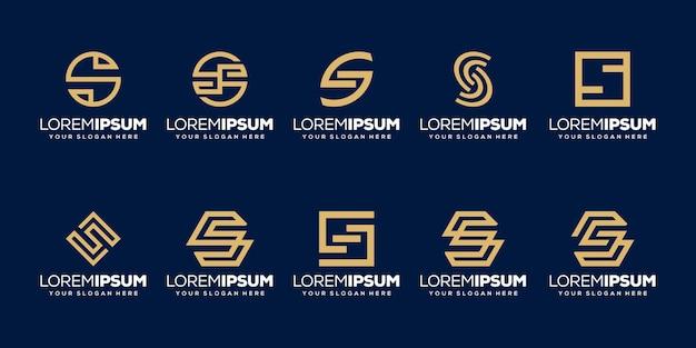 Set van eerste letter s logo sjabloon