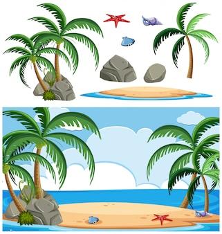 Set van eilandelement