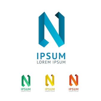Set van elegante grafische symbool letter n