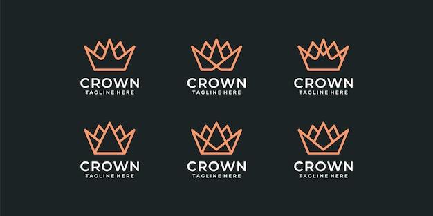 Set van elegante moderne luxe monogram logo-ontwerpbundelcollectie.