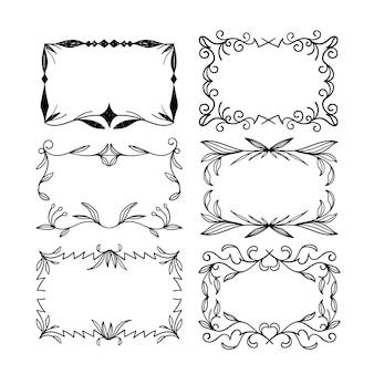 Set van elegante sierlijsten