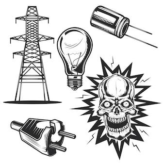 Set van elektrische elementen