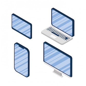 Set van elektronica apparaten iconen