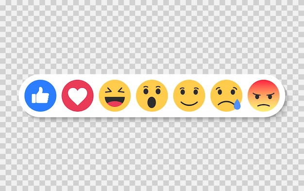 Set van emoji. emoticons platte set