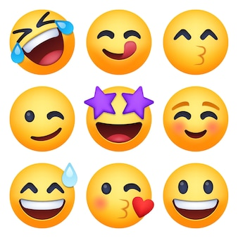 Set van emoji