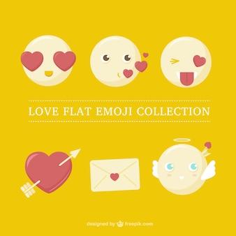 Set van emoticons in de liefde