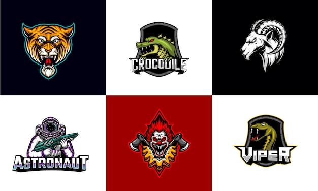 Set van esport-logo-sjabloon