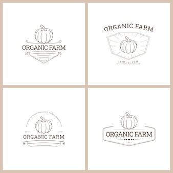Set van farm badge vector logo