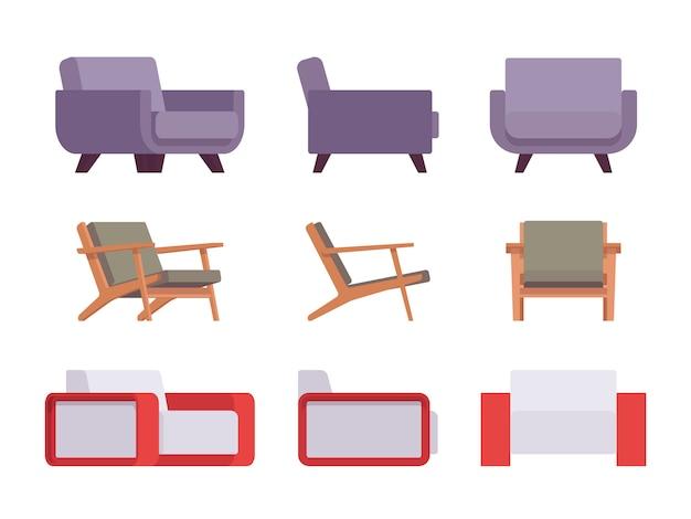Set van fauteuils