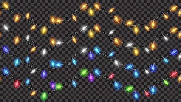 Set van feestelijke kerstversieringen