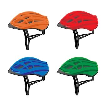 Set van fietshelmen illustratie