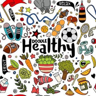 Set van fitness en sport teken