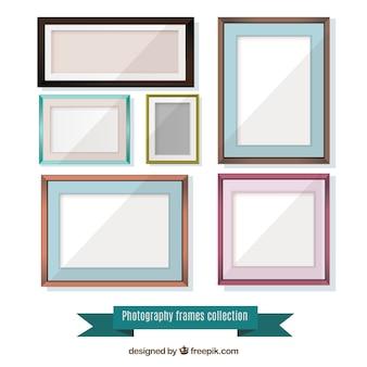 Set van flat frames