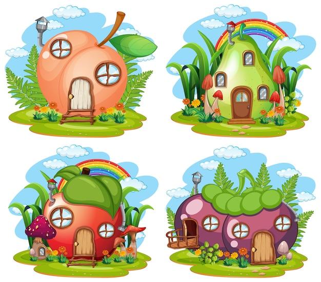 Set van fruit sprookjeshuis