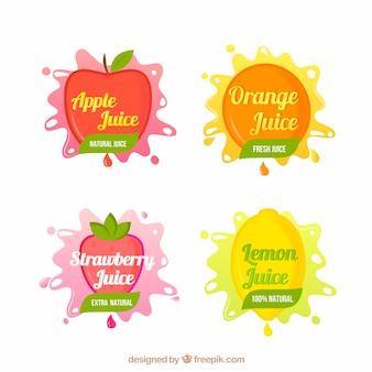 Set van fruit stickers