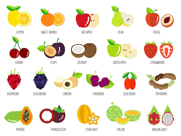 Set van fruit