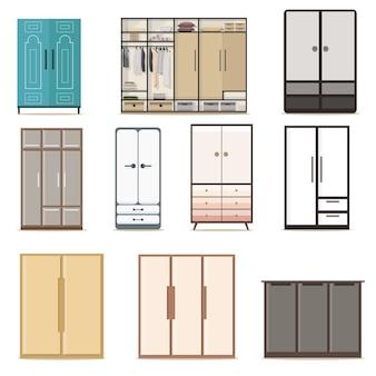 Set van garderobekasten kasten