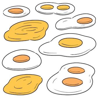 Set van gebakken ei