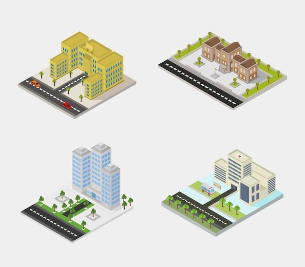 Set van gebouwen