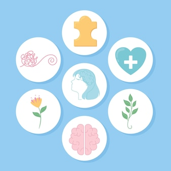 Set van geestelijke gezondheid