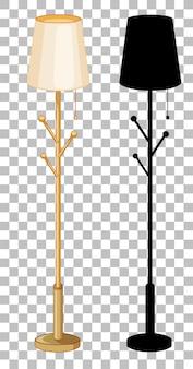 Set van geïsoleerde lamp