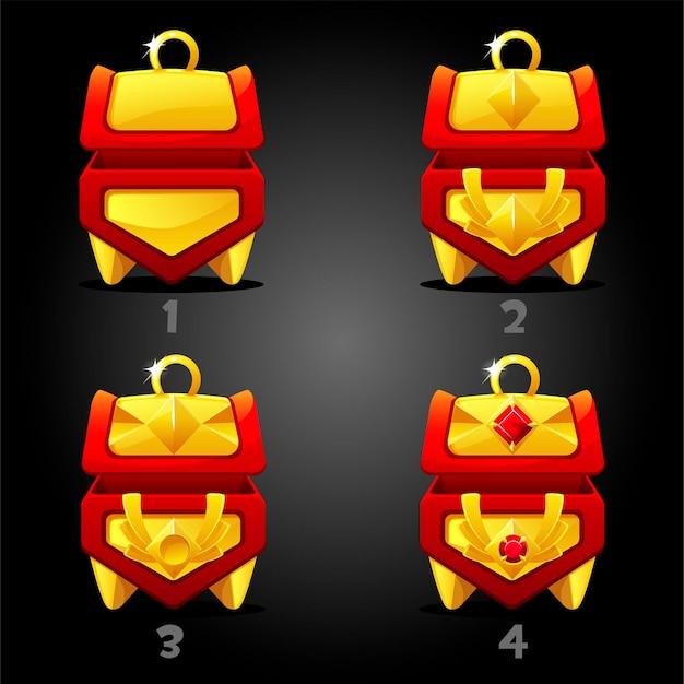 Set van geïsoleerde vakken met diamanten.