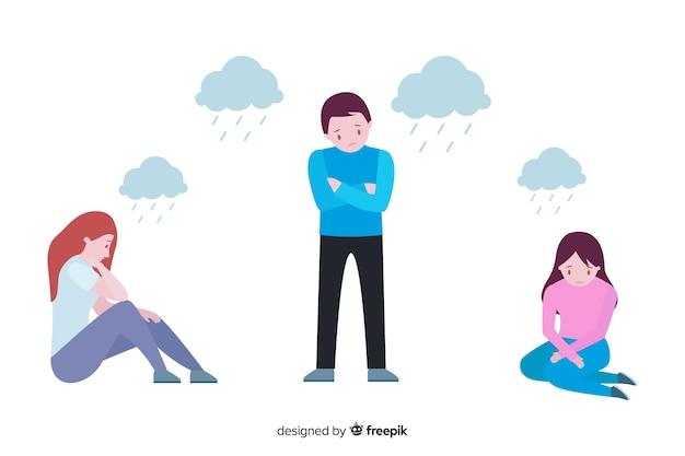 Set van gelaatsuitdrukking van verschillende emoties